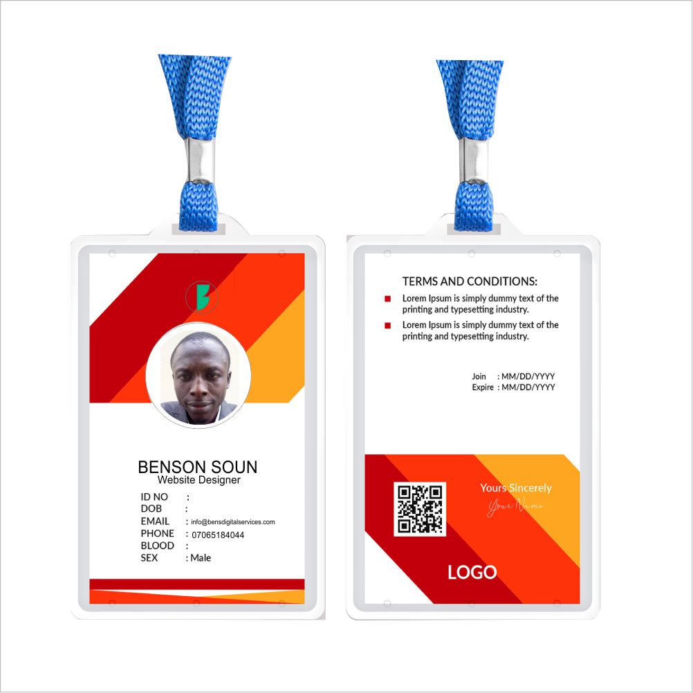 plastic I.D cards design and printing