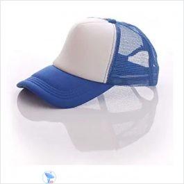 White & Blue Sublimation cap